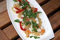 Quinoa pfanne mit Mozzarisella