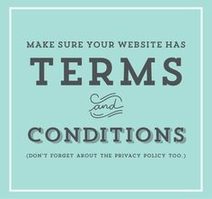 Terms & Conditions: Protecting Your Online Business - oh my! handmade goodness: