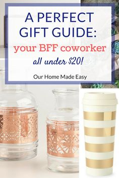 A list for your favorite co-worker. All the gifts are less than $20 and something they will actually use! Click to see them all!