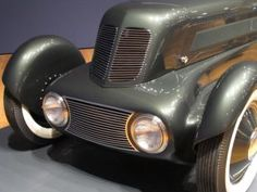 """1934 Edsel Ford Model 40 Special Speedster, front view. From the High Museum exhibition """"Dream Cars"""" -- Atlanta GA, USA, 2014"""