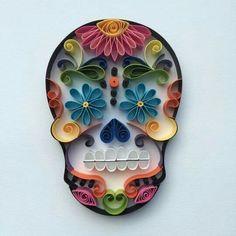 Paper skull (calavera)