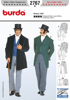 Most of the men's patterns are just the jacket or vest. This one actually has the pants.