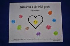 God loves a cheerful giver coin rubbing activity to accompany the lesson of the widow's offering.
