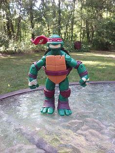 TMNT Raphael Action Figure 2012 Viacom Nickelodeon Raph Mutant Ninja Turtles 4.5 #PlaymatesToys