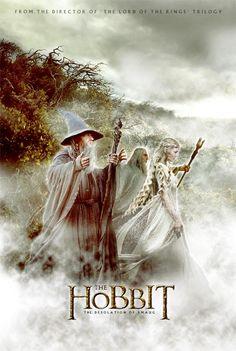 012 The Hobbit The Desolation of Smaug - Hot Movie Film Art Poster Gandalf, Legolas, Thranduil, The Hobbit Movies, O Hobbit, Lotr Movies, Ian Mckellen, Fellowship Of The Ring, Lord Of The Rings