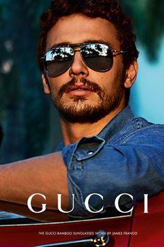 James Franco Fronts for Gucci Sunglasses Campaign Spring/Summer 2013 #otticodimassa #guccisunglasses #guccieyewear