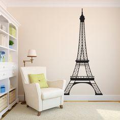 Superieur Eiffel Tower Wall Decal   7 Feet High Decal   Paris Wall Decor