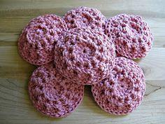 Face scrubbies. Free pattern crochet