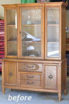 Mia Dolce Originals - Modern Quilts and DIY Projects: Repurposed China Cabinet: Fabric Storage