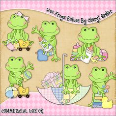 Wee Frogs Babies ClipArt Graphic Collection - £0.60 : Scrapbookingmad.com