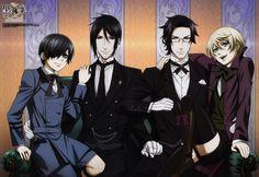 "Kuroshitsuji ""Black Butler"" - Ciel Phantomhive, Sebastian Michaelis, Claude Fautus and Alois Trancy"