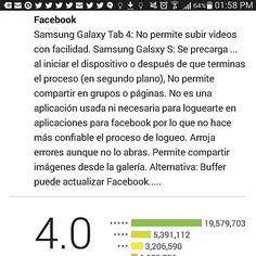 Mi #opinión sobre la #app #facebook en la #PlayStore