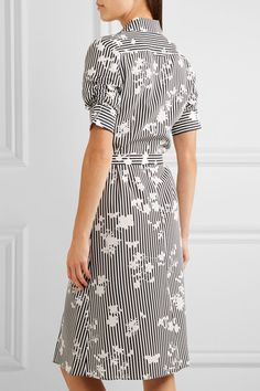 Altuzarra - Kieran Printed Silk Crepe De Chine Shirt Dress - Black