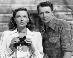 Cornel Wilde and Gene Tierney in the Movie 'Leave Her to Heaven'
