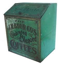 The J.M. Bour Co's Celebrated Blended Coffee Tin