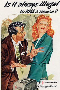 sexist retro ad.