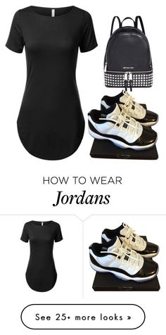 """"""""""" by lovingnehwhite on Polyvore featuring NIKE and Michael Kors"""