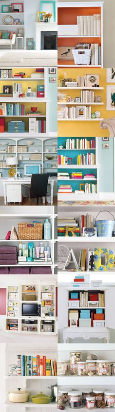 SHELVES :: 22 Ways to Arrange Your Shelves from Real Simple | #bookcase #homedecor #realsimple #shelves