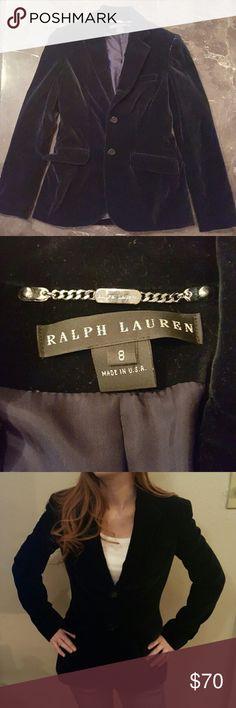 EUC Navy velvet Ralph Lauren blazer EUC Navy velvet Ralph Lauren blazer. This blazer is absolutely beautiful, and is sadly a reposh for me 😩. Ralph Lauren Jackets & Coats Blazers