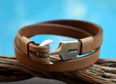 FREE SHIPPING mens wrap bracelet leather  bracelet by OLDU on Etsy