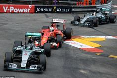 Hamilton emerged from the pit-lane behind both Rosberg and Vettel and was unable to find a...