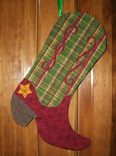 Cowboy Christmas Stocking Patterns | Christmas Cowboy Boot Stocking Pattern http://www.flickr.com/photos ...