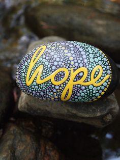 Inspirational Stone / Hope Stone /Written on Stone / by mitsel8