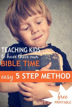"How can you teach your kids how to not just READ the Bible during personal Bible study time but to UNDERSTAND IT? Here's an easy, 5-step children's Bible study method and printable called the ""5 Rs"" that my kids and I use to glean deep spiritual truths. Includes a FREE BOOKMARK PRINTABLE CRAFT!"