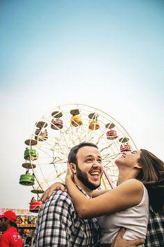Pré-Casamento - Parque de Diversões: Roda-Gigante