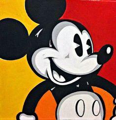 Disney Mickey Mouse Pop Art Portrait Acrylic On by BeachFrogPond, $50.00