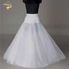 >> Click to Buy << Bridal Slips Wedding Underskirt White Underdress Falda Brautpetticoat Long Crinoline Sottoveste A Line Petticoat Layer 0019 #Affiliate