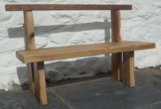 FSC green oak bench. Number One in a set of three.
