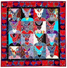 Quilted Portraits with Therese May #craftartedu