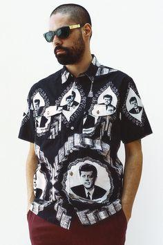 Supreme JFK Kennedy Short Sleeve Oxford Button Up Shirt M Medium Navy blue Skate Street, Men Street, Street Wear, Mode Masculine, Supreme, Jfk Kennedy, Summer Lookbook, Fashion Details, Summer Collection
