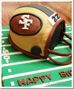 My birthday is not during football season, but who cares? I'd LOVE to have this cake!