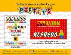 Diseño de impresos para una Fiesta de Lego :: Lego party designs