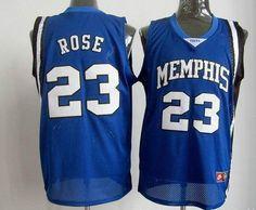 Memphis  #23 Derrick Rose Blue NBA Jerseys