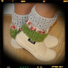 Crochet handmade boots folkrustic boho hippie by ukicrafts, Spring Boots, Summer Boots, Spring And Fall, Hippie Crochet, Crochet Boots, Boho Hippie, Hand Crochet, Baby Shoes, Booty