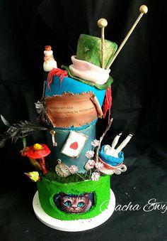 Alice in Wonderland Alice In Wonderland Cakes, Cake Decorating, Baby Shower, Daily Inspiration, Birthday, Desserts, Ideas, Babyshower, Tailgate Desserts