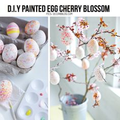 Easter egg cherry blossom from Decor8blog.com, featured in round-up of easy easter DIY on ScrapHacker.com