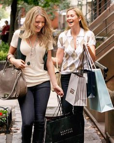 Blake Lively and Rutherford in a still from Gossip Girl.