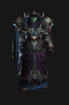 Unholy Death Knight Apocalypse Transmog Set - Herald of Pestilence Skin with Blue Tint Transmog. World of Warcraft Legion.