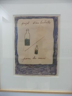 Marcel Broodthaers -  Bouteille à la mer - @ collection Lambert in Avignon
