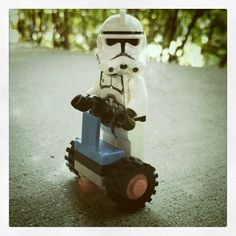 Lego Segway!  That's the way to get around the Death Star!