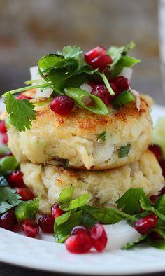 Crispy Crab Cakes with Pomegranate Salsa