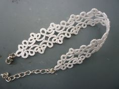 tatting lace - hand crafted - tatted - bracelet - white | eBay