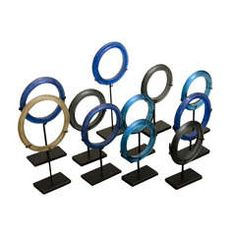 Set of 11 Glass Borneo Bracelets
