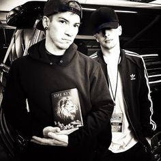 Tyler and Josh (holding DJ Khaled's book???) - twenty one pilots #top