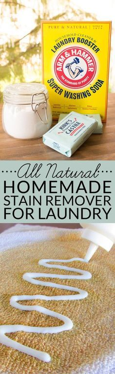 This All-Natural Homemade Stain Remover for Laundry is a simple DIY that makes…