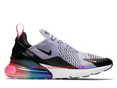 sneakers for cheap 66974 04551 Coussin Dair Classique Nike Air Max 270 Flyknit Homme Violet clair noir  blanc AR0344-500